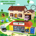 DHL 16005 the Simpsons Casa 16004 il Kwik-E-Mart Building Blocks Mattoni Compatibile legoinglys 71016 71006 Ragazzi regali