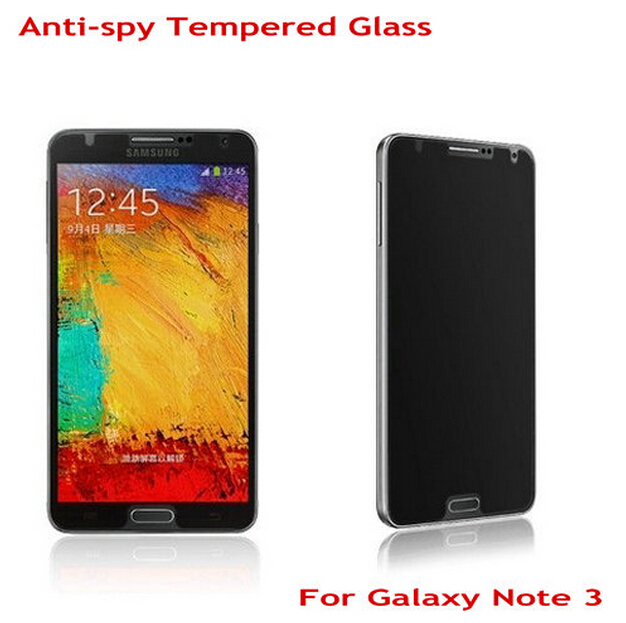50pcs For Samsung Note 3 Anti Spy Screen Protector Privacy Tempered Glass for Samsung Galaxy Note 3 Guard Film