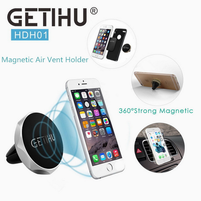 GETIHU Auto Car Holder Air Vent Mount Magnet Magnetic Phone Mobile Holder Universal For iPhone 5 6 6s Samsung Car Holder Stand