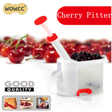 2017 Novelty Cherry Pitter Stone Corer Remover Machine Cherry Corer With Container Kitchen Gadgets Tool
