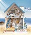 Kits de Edificio Modelo Hecho A Mano bricolaje Casa de Muñecas Casa De Muñecas De Madera Miniatura Cumpleaños Greative Regalo de Navidad Juguete de instrucciones Inglés