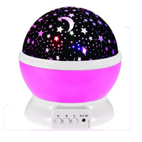 Novelty Luminous Romantic Starry Sky LED Night Light Projector Battery USB Night Light Creative Birthday Toys For Children #5