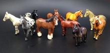 10pcs lot 3 4cm original high quality mini cute horses action figure set best kids toys