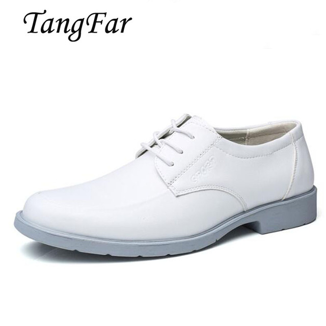 tamaño grande Cuero 48 Zapatos Boda hombres auténtico Navy mens 39 sólido blanco Zapatos para IwBST8