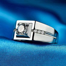 Opening Simulated Wedding Rings For Women Silver Color Ring Fashion Jewelry Jewelry Round Sona Stone 10k yellow gold women s ring sona synthetic simulated diamond engagement wedding ring new hot best quality fashion rings