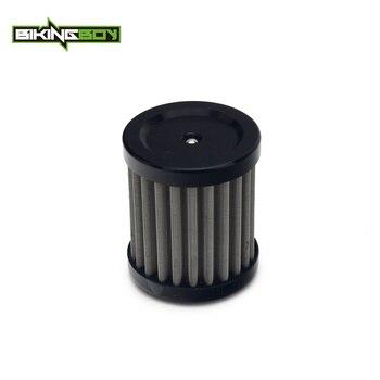 BIKINGBOY para HUSQVARNA SMS4 TE 125 4 T 11 12 13 GAS EC 250 300 450 F 2013 2014 2015 filtro de aceite reutilizable de acero inoxidable 1 ud.