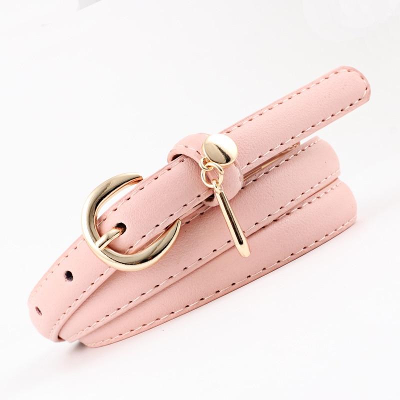 Badinka 2018 New Designer Ladies White Black Red Pink Thin Waist Belt Female Gold Buckle Belts for Women Dress Cinturones Mujer