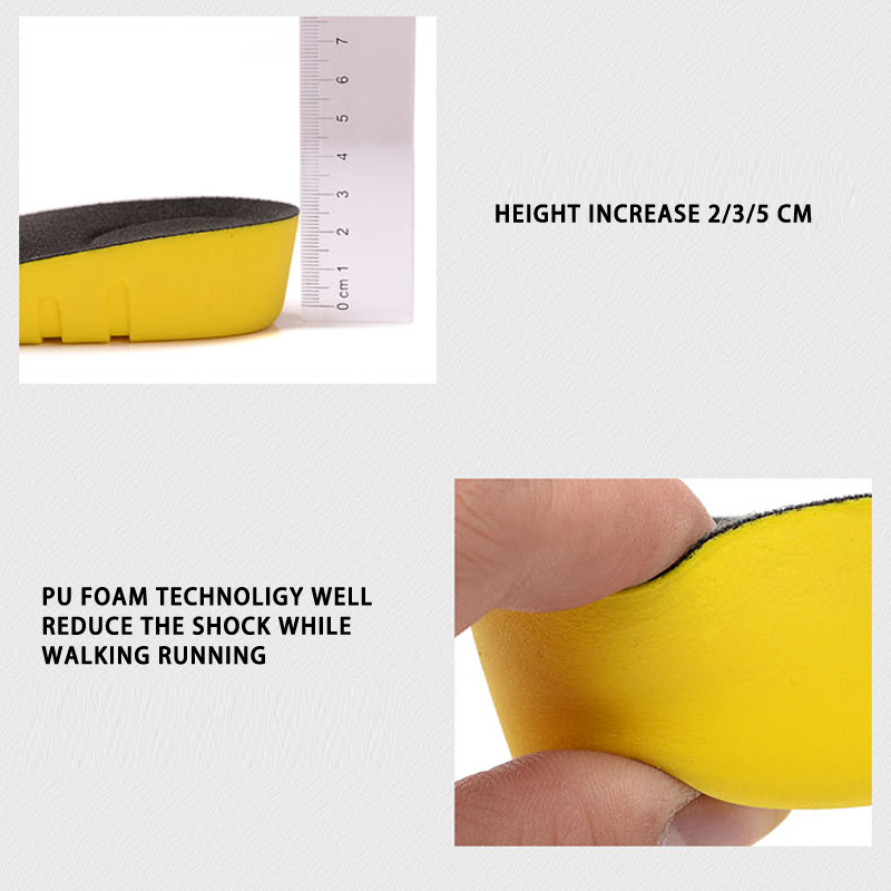 US $4 79 |Height increase insoles for men/women 2/3/5 cm up invisiable arch  support orthopedic insoles shock absorption blue/black color-in Insoles
