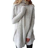 2017 New Autumn Winter Fluffy Sweaters Women S Turtleneck Lady S Sleeve Jersey Warm Pullover Female