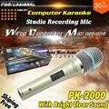 Professional Metal PK2000 Dynamic Handheld Mic Wired Condenser Recording Studio Microphone Mike Microfono Karaoke PC Mikrofon