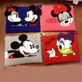 Cute design pu leather Minnie Mickey Ladies Clutch Bag Bolsa Feminina Handbag shoulder bag across-body messenger bag envelope