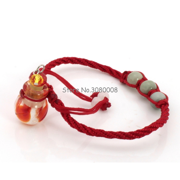 1ml Three Beads Symphony Glass Essential Oil Bottle Bracelet Empty Bottle Pendant