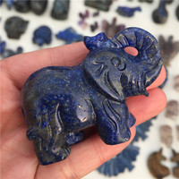Natural Lapis Lazuli Crystal Elephant Hand Carved And Polished Animal Rare Gemstone Home Decoration