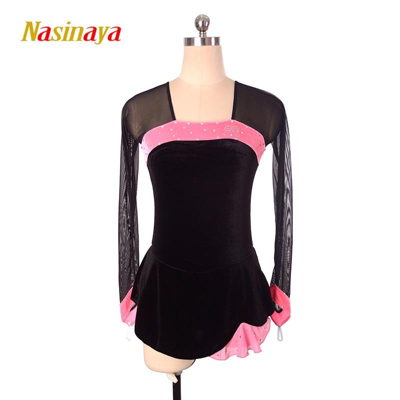 Nasinaya Figure Skating Dress Customized Competition Ice Skating Skirt for Girl Women Kids Patinaje Gymnastics Performance 227