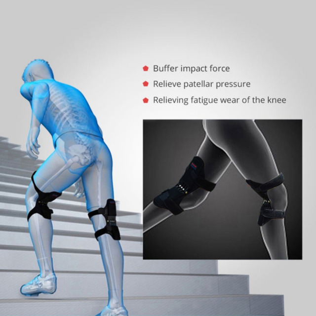 Power Lift Joint Protective Sports Support Knee Pads