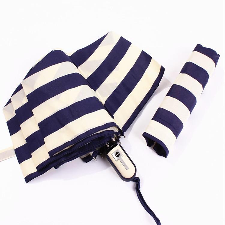 Hochwertiger Regenschirm Kreativ Marine Streifen Taschenschirm - Haushaltswaren