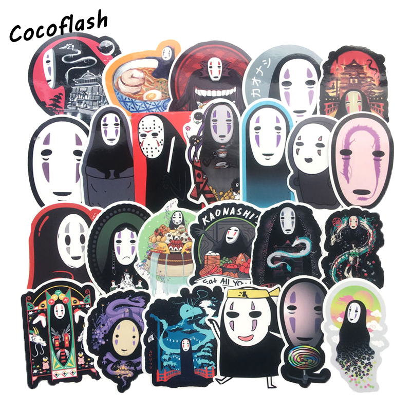 40Pcs/LOT No Face Man Spirited Away Stickers Decal For for Snowboard Laptop Luggage Car Fridge Car- Styling Toy DIY Sticker image