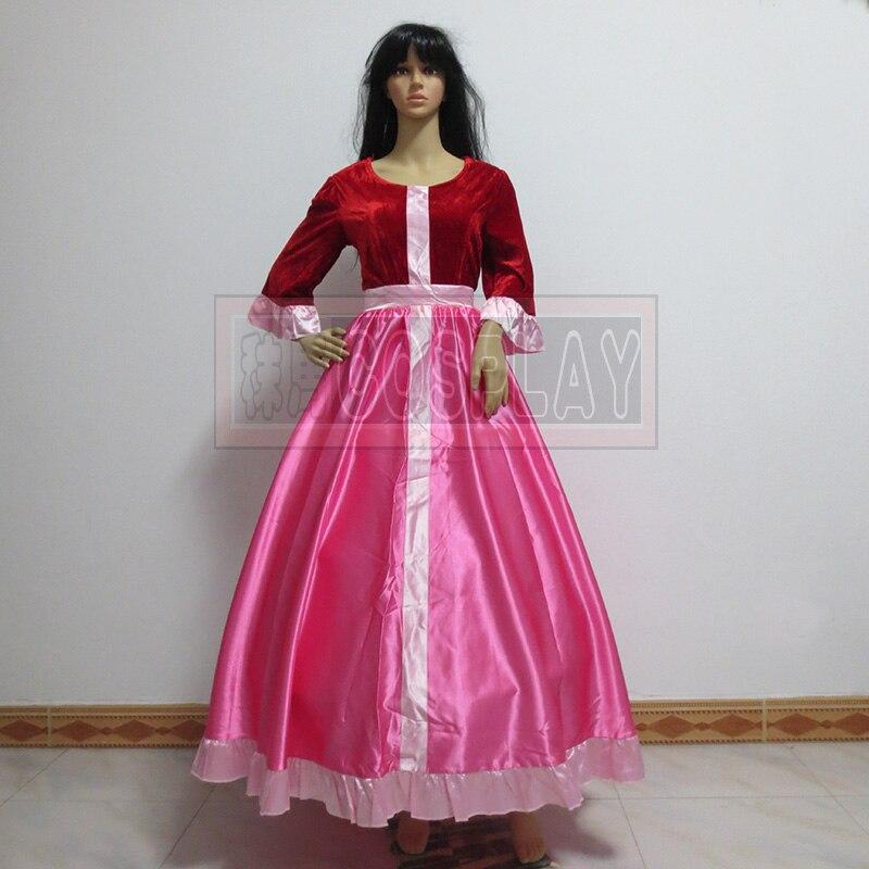 La bella y la Bestia Belle vestido de princesa rosa cosplay vestido ...