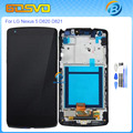 100%Tested Replacement for LG Nexus 5 lcd D820 D821 LCD diaplay with Touch screen digitizer with frame Assembly black color+tool