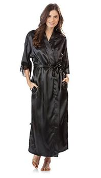 Summer Lace Patchwork Satin Kimono Robe Sexy Sleepwear