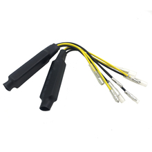 2pcs 12v Motorcycle LED Signal Turn Signal Decoder Single Resistance Decoder Heat Resistant Line Fixes Flash and No Flash