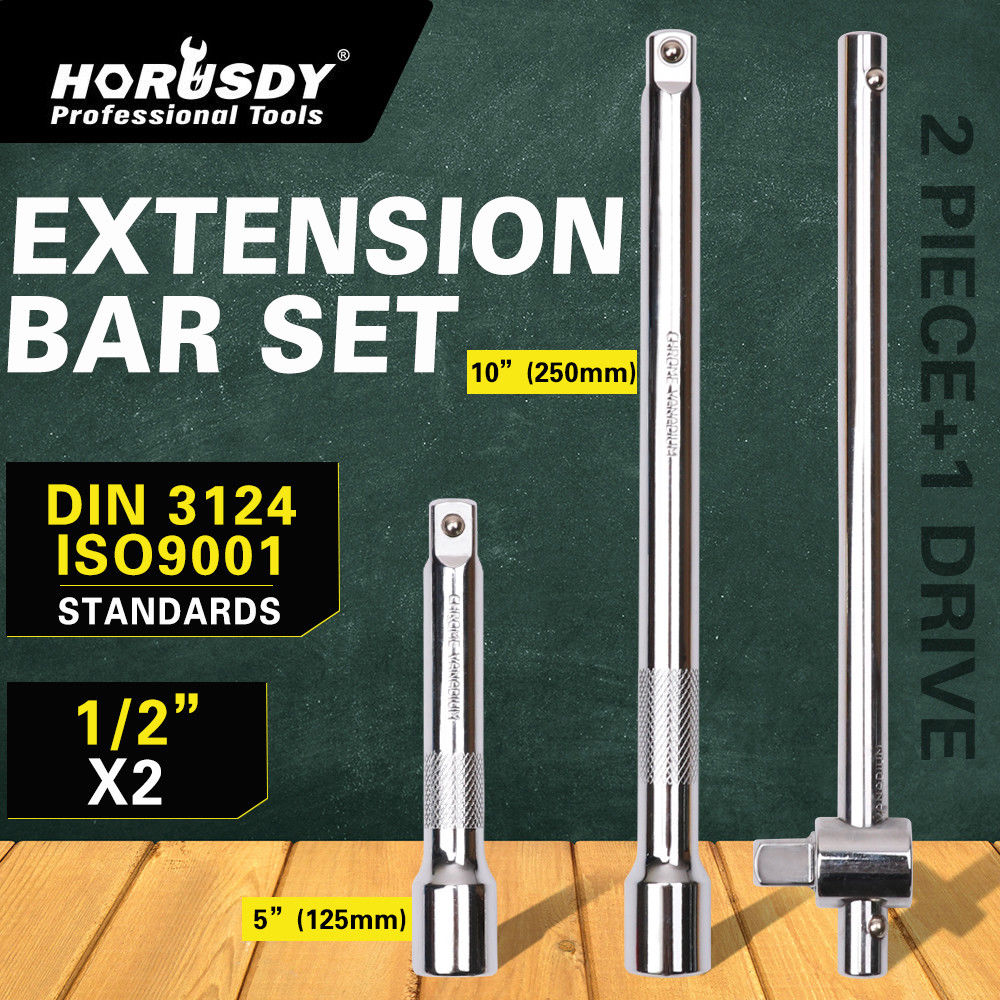 HORUSDY 4pcs Sliding T Handle Nut Driver Set Extension Bar Socket Adjustable Extra Torque Hand Tool For Car Bicycle Repair Tools in Wrench from Tools