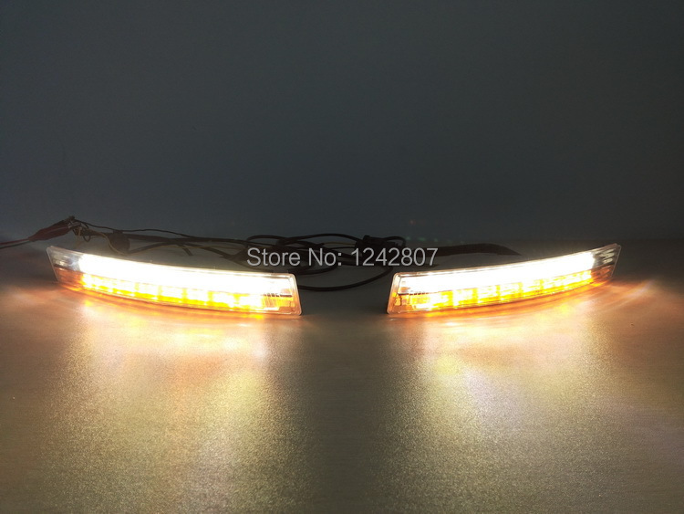 SMK NEW arrival for VW Passat B6 led drl daytime running light front with turn light function top quality Original design