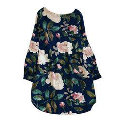 Słodki kwiat wzór druku Mini na co dzień Sukienka bawełniana dla kobiet O Neck kwiat Sukienka Vestidos Sukienka W Kwiaty Sukienki M ~ 5XL 2