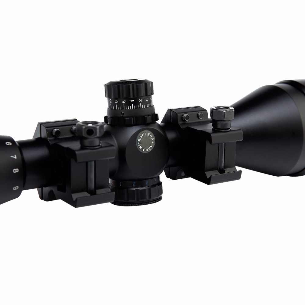 Tactische 3-9X50AOL Hunting Optics Riflescope Airsoft Air Guns Scopes Green/Red Dot Verlichte Reflex Rifle Sight