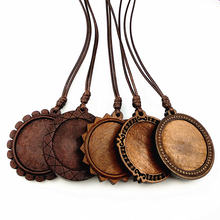 Jiangzimei 24 шт темно коричневые настройки кабошон дерево диаметр