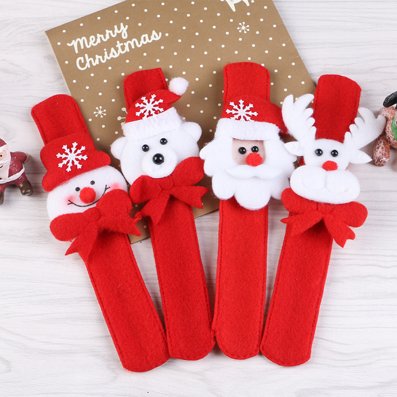 Hufa Kitchenware Store 5pc Christmas Children Gift decoration hand ring pat circle christmas christmas party favor paillette ring pops