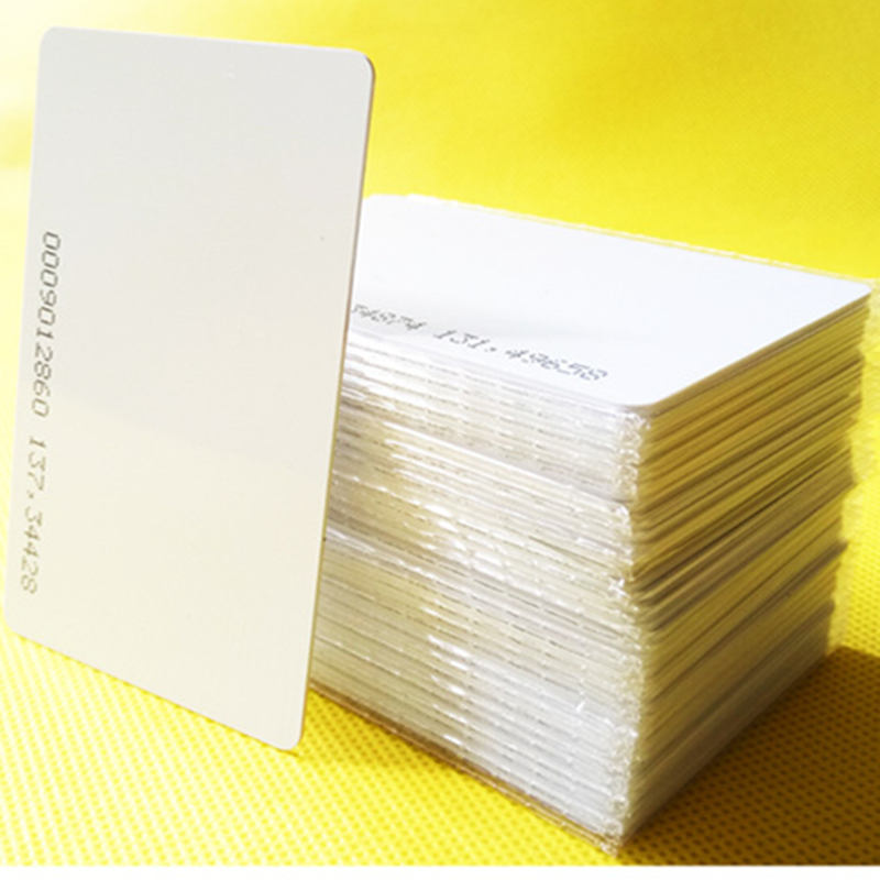 Hot Sale 10pcs/lot rfid card 125khz TK4100 blank smart card EM4100 ID pvc card with UID series number for access control system 200pcs box 125khz white id inkjet printer pvc card rfid proximity smart card with serial number