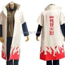Аниме Наруто Yondaime Hokage Namikaze Минато униформа плащ Косплей Костюм Какаши учительский Косплей Наруто Костюм для игры Лидер продаж