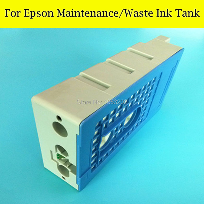 1 Pieces Waste ink Tank For EPSON Surecolor T7411 F6070 F7070 F7000 T3070 T5070 T7070 Printer Maintenance Tank Box best price stable maintenance ink tank for epson surecolor t3070 t5070 t7070 printer waste ink tank