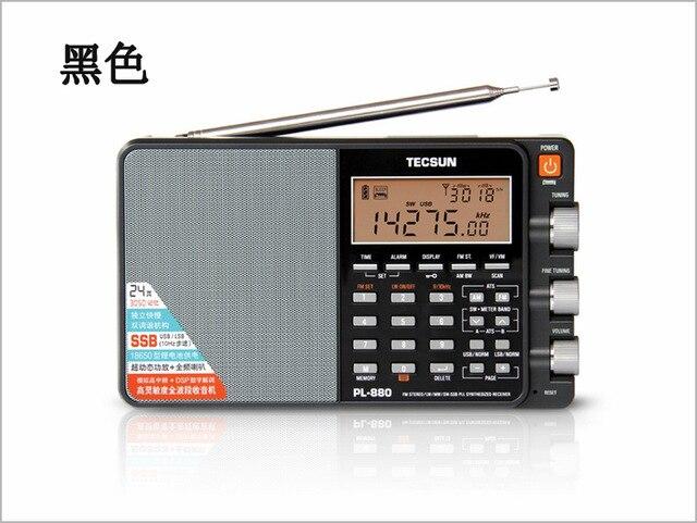DHL Бесплатная доставка, TECSUN pl 880 Полный диапазон FM Радио lw/sw/mw SSB PLL синтезированный приемник DSP Радио Портативный Стерео FM радио