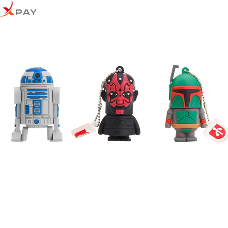 USB 2.0 pendrive cartoon Silicone 32GB 128GB Usb flash drive 4GB 8GB 16GB 64GB for gift darth flash memory stick free shipping-in USB Flash Drives from Computer & Office
