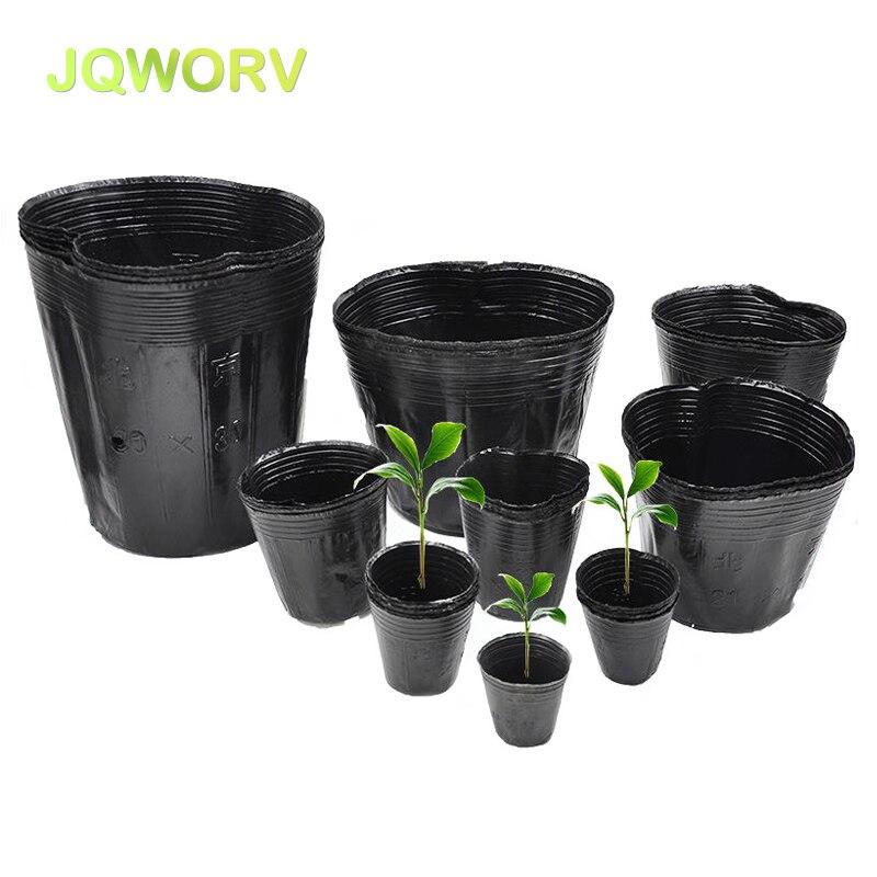 55cm Garden Oval Trough Planter Plastic Plant Pot Black