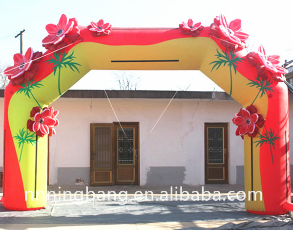 Бесплатная доставка 5,85*3,93 м надувной цветок свод надувной арки для Свадебные украшения
