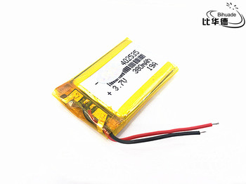 3.7V polymer lithium battery 402535 380Mah Rechargeable Li-ion Cell For GPS car recorder MP3 electronic dog MP4 MP5 Smart Watch image