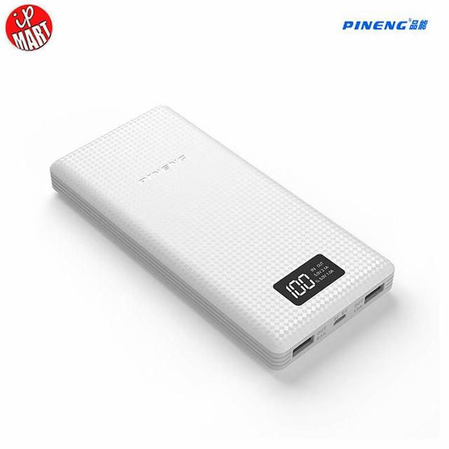 Оригинал Pineng Power Bank 20000 мАч PN969 Мощность Внешняя Батарея с СВЕТОДИОДНЫЙ Индикатор Dual USB Выход для ipfone6s Tablet ПК