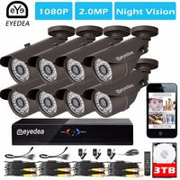 Mom S Day Eyedea 8 CH Motion Detect HDMI 4 Audio DVR 1080P 2 0MP Black