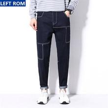 Мужской бутик случайные джинсы летняя мода 2017 молодежи удобная тонкий выбор большой размер