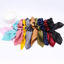 цены на Cute Rabbit Ear Hair Ties for Girls Dots Hair Bows Scrunchie Ponytail Headband Hair Elastic Ropes Hair Accessories  в интернет-магазинах