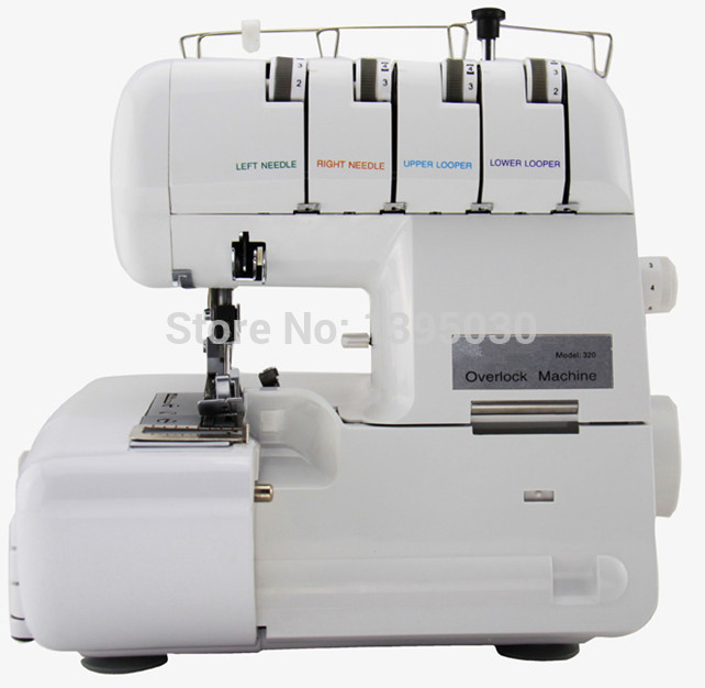 1PC 220V/110V 320 Sewing Machine Overlock Sewing Machine Overedger Multi-function With English Manual