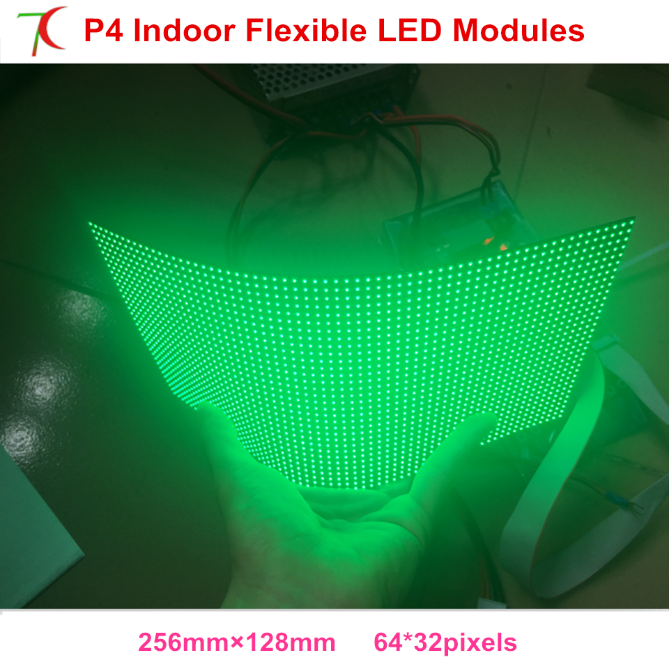 Indoor P4 Smd2121 Flexible Full Color Led Module Use For Special Shapes Led Screen,256*128mm,16scan