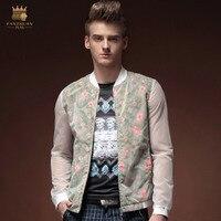 Fanzhuan Бесплатная доставка Новая мода повседневные мужские Для мужчин весна с длинными рукавами свободные повседневные прозрачные куртка
