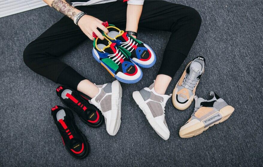 Para Plus colorido Sapatos 2019 multi Preto Primavera Moda Quente Masculinos Xwwdvv cáqui Size Homens Nova Da Casuais Outono Venda Confortáveis E H8xTZYq