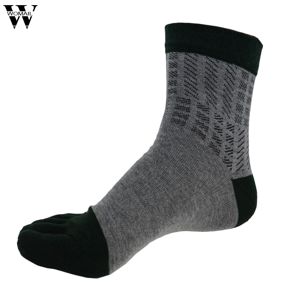 Jan 27 Spring Autumn Summer 1 Pair Men Five Finger Toe Socks