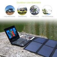 Солнечный Мощность банк 40 Вт для iPhone iPad Macbook acer samsung htc LG Hp ASUS Dell телефон/Таблица/ ноутбук/Мощность станции