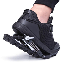 Mechanical running shoes Bouncing Spring shock absorption running Shoes